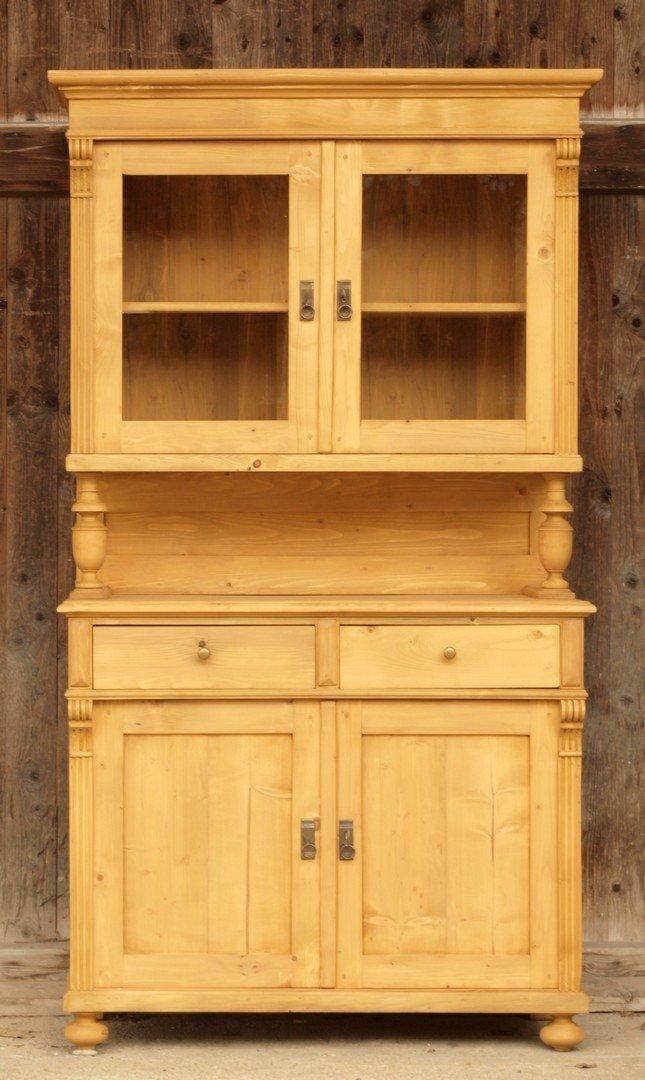 Küchenbuffet Alt Schmal ~  b104 bauernmöbel küchenbuffet mit säulen massivholz fichte antik möbel antiquitäten alling