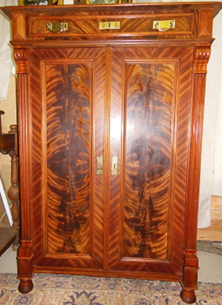 gr nderzeit vertiko nussbaum um 1880 1900 antik m bel antiquit ten alling bei m nchen zwischen. Black Bedroom Furniture Sets. Home Design Ideas