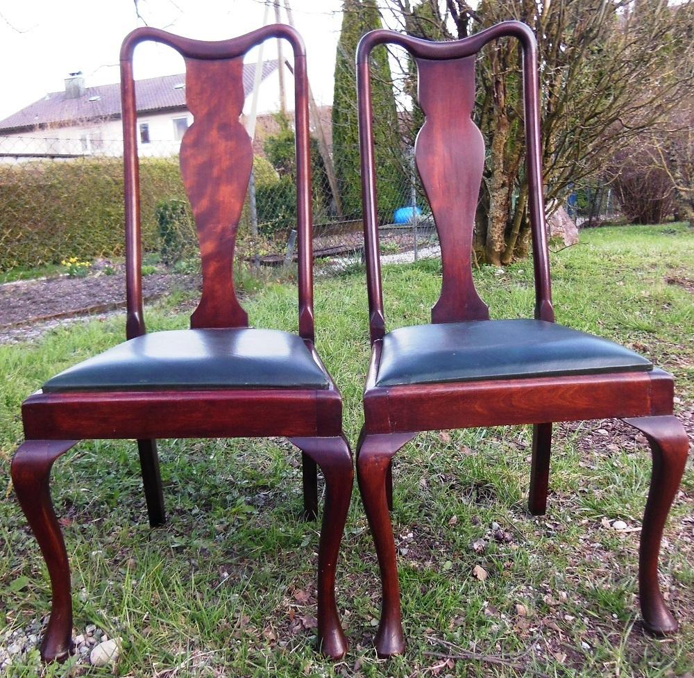 2 queen ann st hle jugendstilst hle um 1900 antik m bel antiquit ten alling bei m nchen. Black Bedroom Furniture Sets. Home Design Ideas
