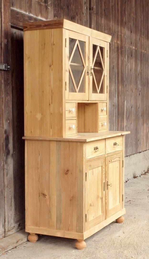 altes antikes k chenb fett k chenschrank bauernbuffe. Black Bedroom Furniture Sets. Home Design Ideas
