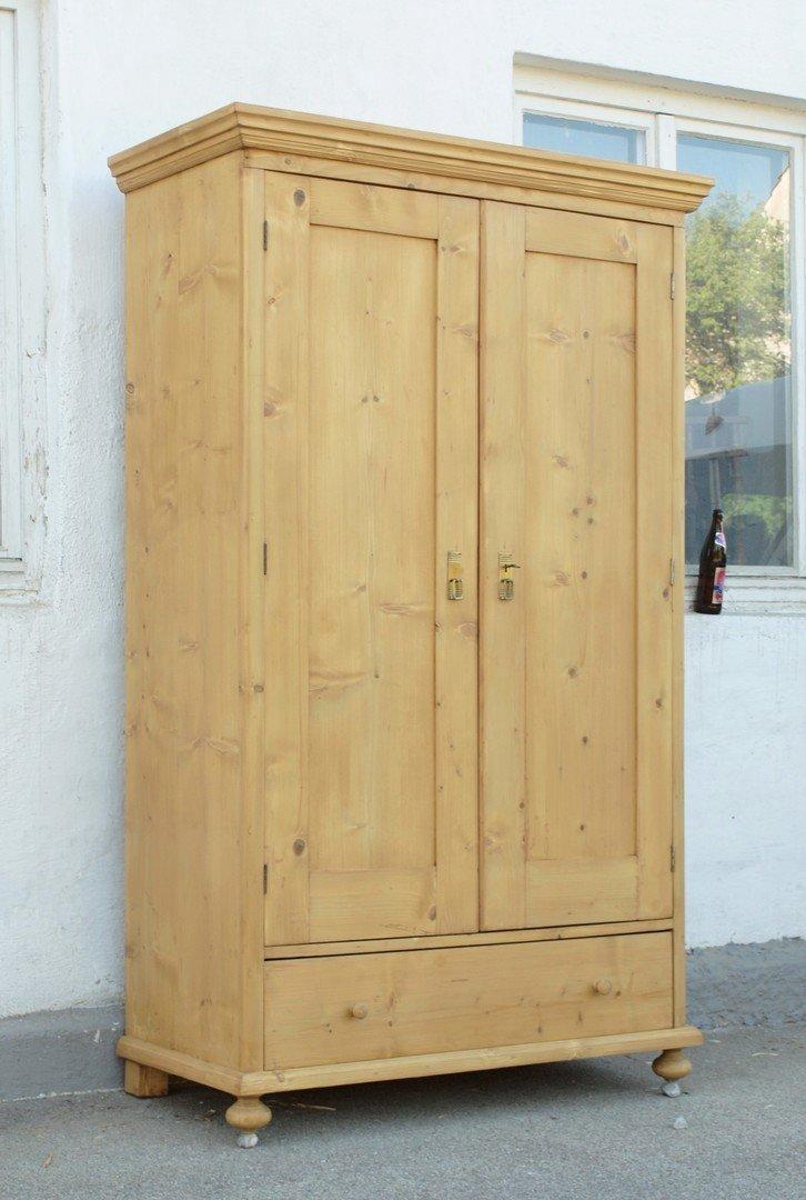 alter antiker bauernschrank mit schublade massivholz fichte. Black Bedroom Furniture Sets. Home Design Ideas