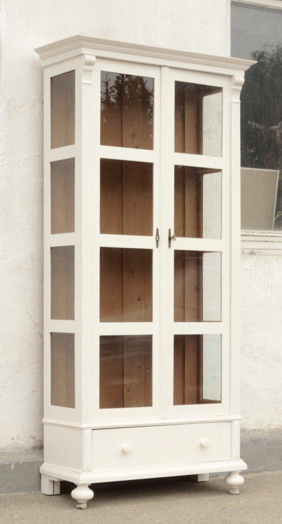shabby chic vitrine bauernvitrine nachbau neuanfertigung antik m bel antiquit ten alling bei. Black Bedroom Furniture Sets. Home Design Ideas