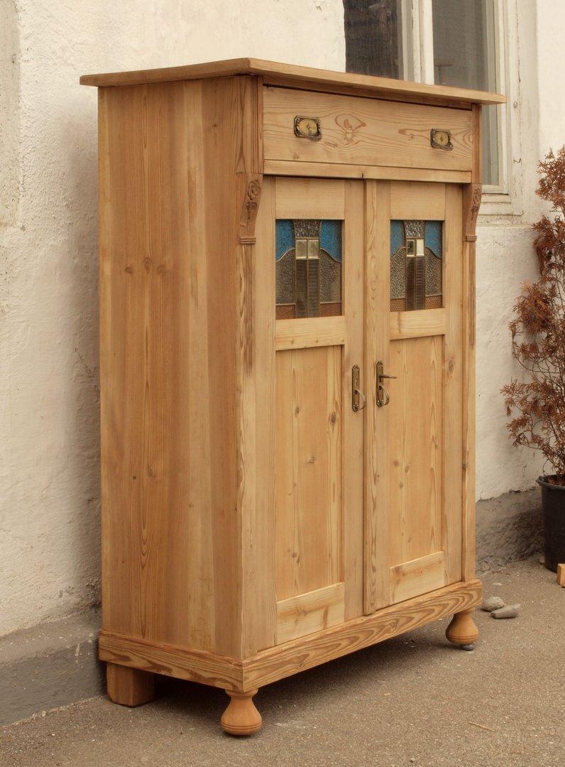 altes antikes vertiko aus der gr nderzeit massiv. Black Bedroom Furniture Sets. Home Design Ideas