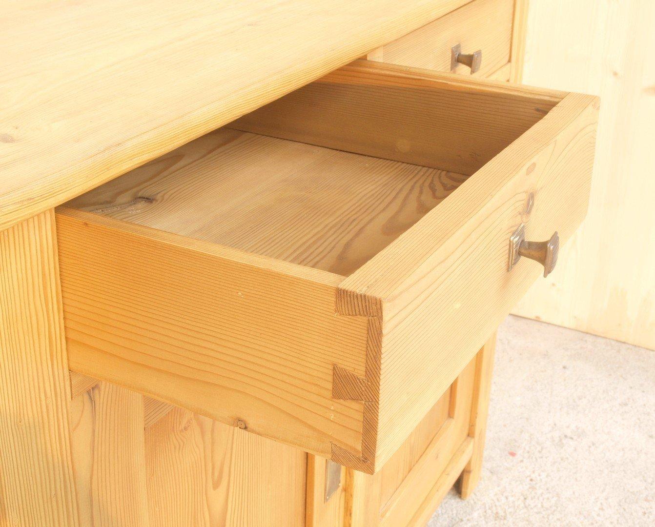 Alte antike anrichte kommode wickelkommode massivholz - Antike kuchenmobel ...