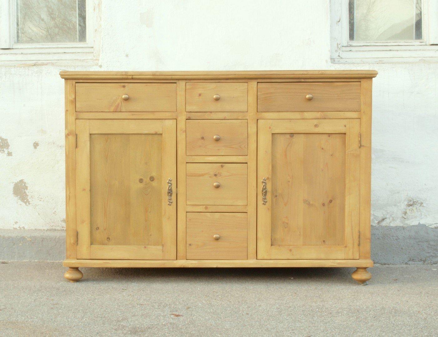 a140s anrichte kommode bauernkommode aus massivem weichholz. Black Bedroom Furniture Sets. Home Design Ideas