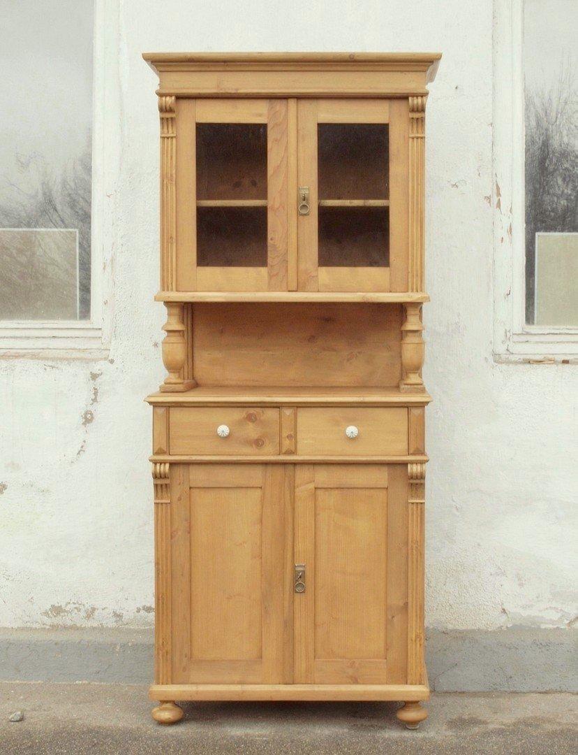 b081 k chenbuffet bauernbuffet k chenschrank im gr nderzeitstil fichtenholz 81 cm antik m bel. Black Bedroom Furniture Sets. Home Design Ideas