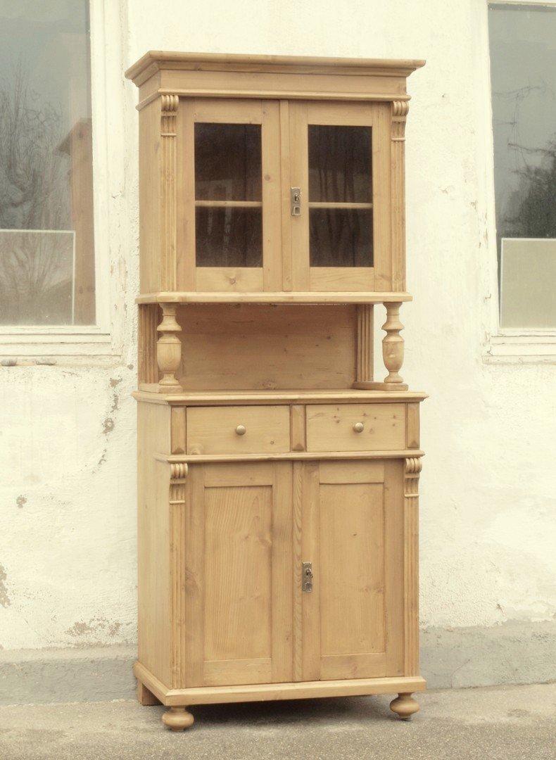 b081 k chenbuffet bauernbufett k chenschrank im gr nderzeitstil fichtenholz 81 cm antik m bel. Black Bedroom Furniture Sets. Home Design Ideas