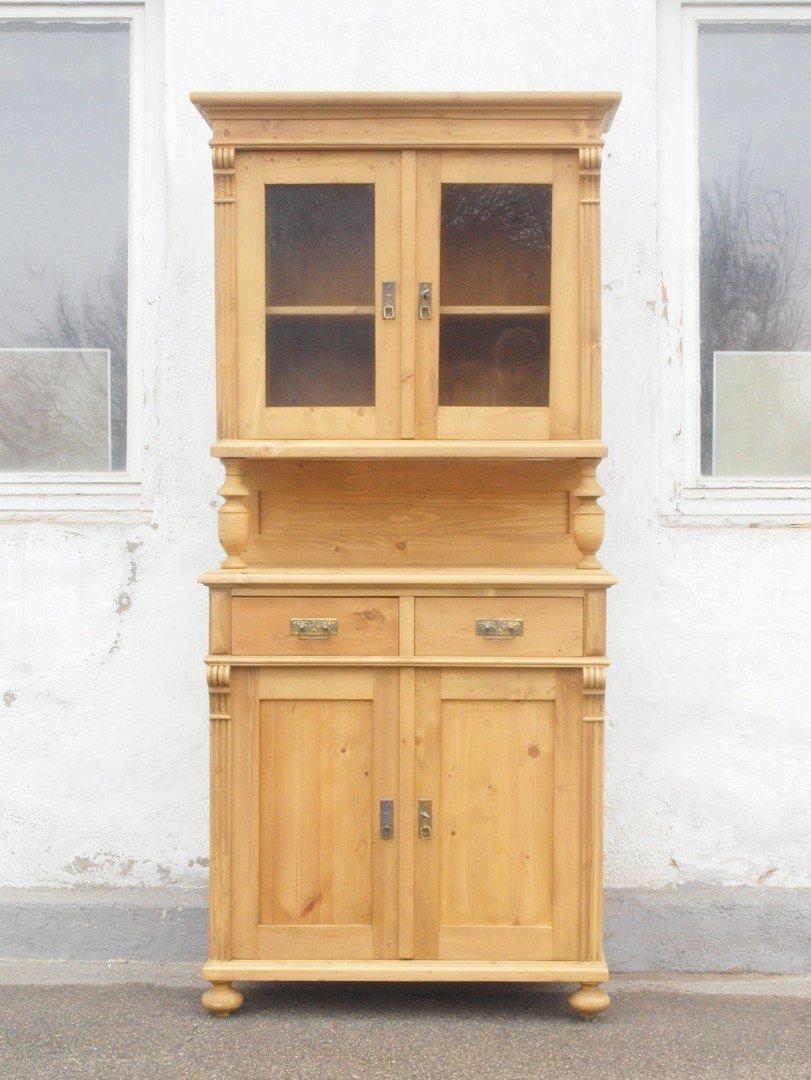 b089 k chenbuffet bauernbuffet k chenschrank im gr nderzeitstil fichtenholz 89 cm antik m bel. Black Bedroom Furniture Sets. Home Design Ideas