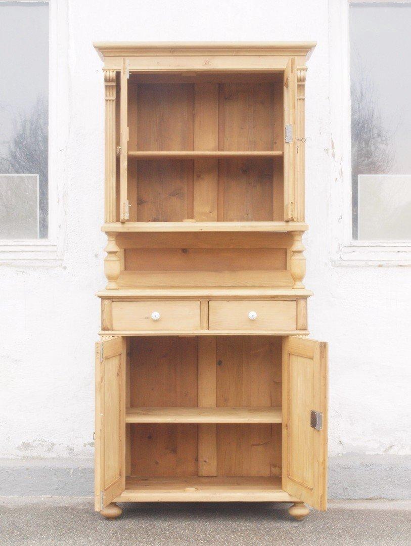 b089 k chenbuffet bauernbuffet k chenschrank im gr nderzeitstil fichtenholz 88 5 cm antik. Black Bedroom Furniture Sets. Home Design Ideas