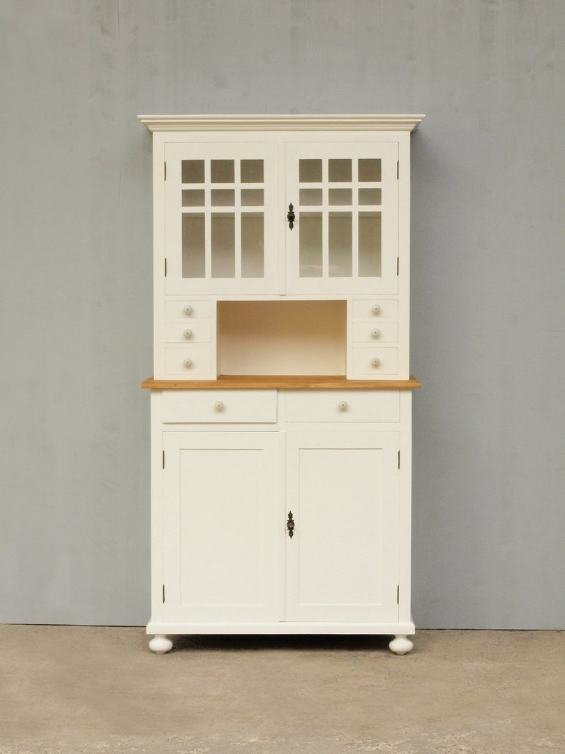 b100 buffet geschirr und k chenschrank shabby chic nachbau 100cm. Black Bedroom Furniture Sets. Home Design Ideas