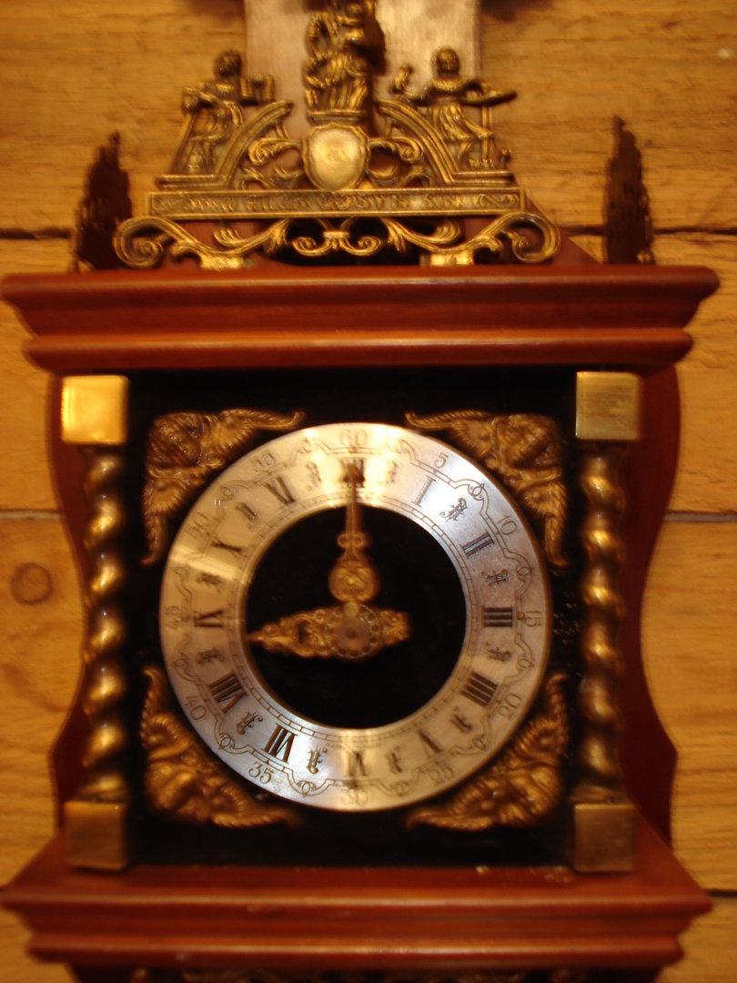kleine holl ndische uhr zaanse clock friesische stuhl uhr antik m bel antiquit ten alling bei. Black Bedroom Furniture Sets. Home Design Ideas