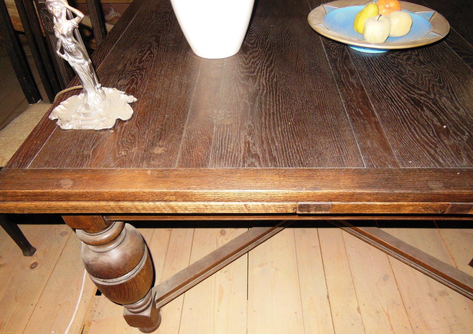 grosser esstisch eichen ausziehtisch england um 1910. Black Bedroom Furniture Sets. Home Design Ideas