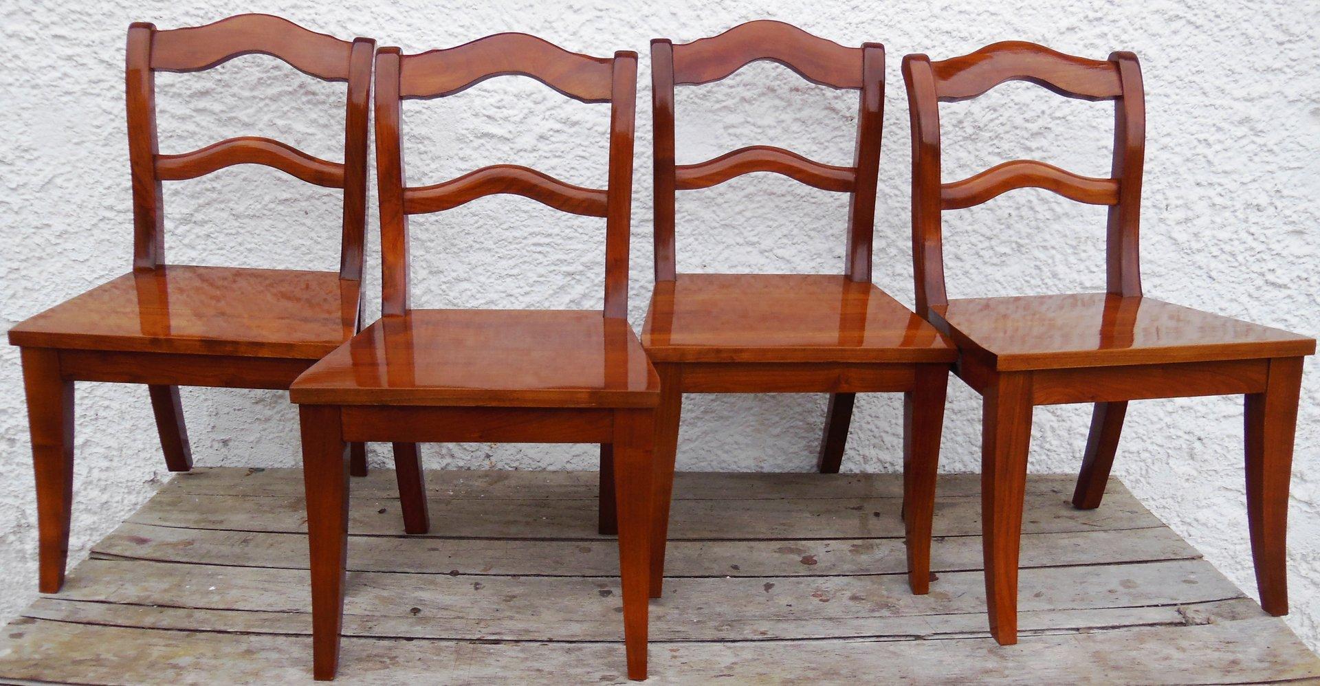 satz kinderst hle massiv kirsche biedermeier stil kirsch st hle antik m bel antiquit ten. Black Bedroom Furniture Sets. Home Design Ideas