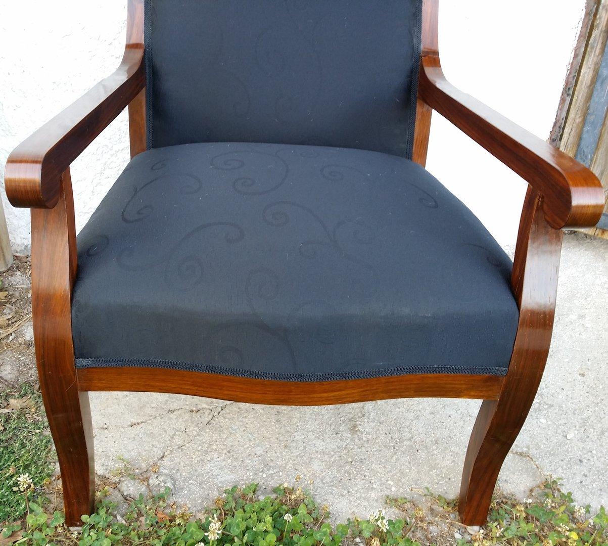 biedermeier art sessel nu baumfurnierter sessel. Black Bedroom Furniture Sets. Home Design Ideas