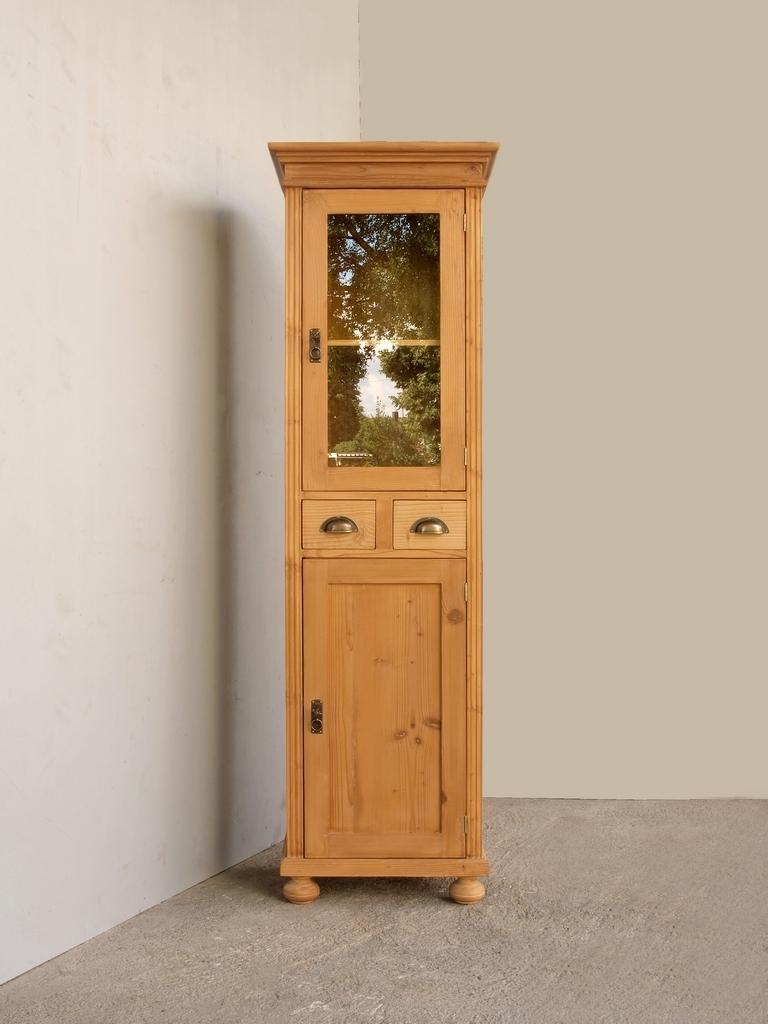 pvi2s2t schmale vitrine gr nderzeitstil fichtenholz. Black Bedroom Furniture Sets. Home Design Ideas