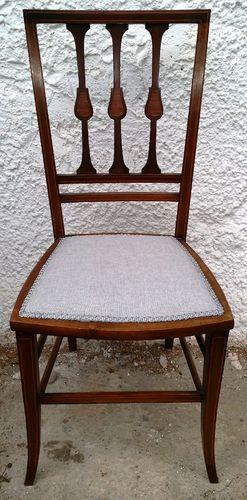 Edwardian Mahagoni Stuhl Englischer Stuhl Jugendstil Um 1900/10