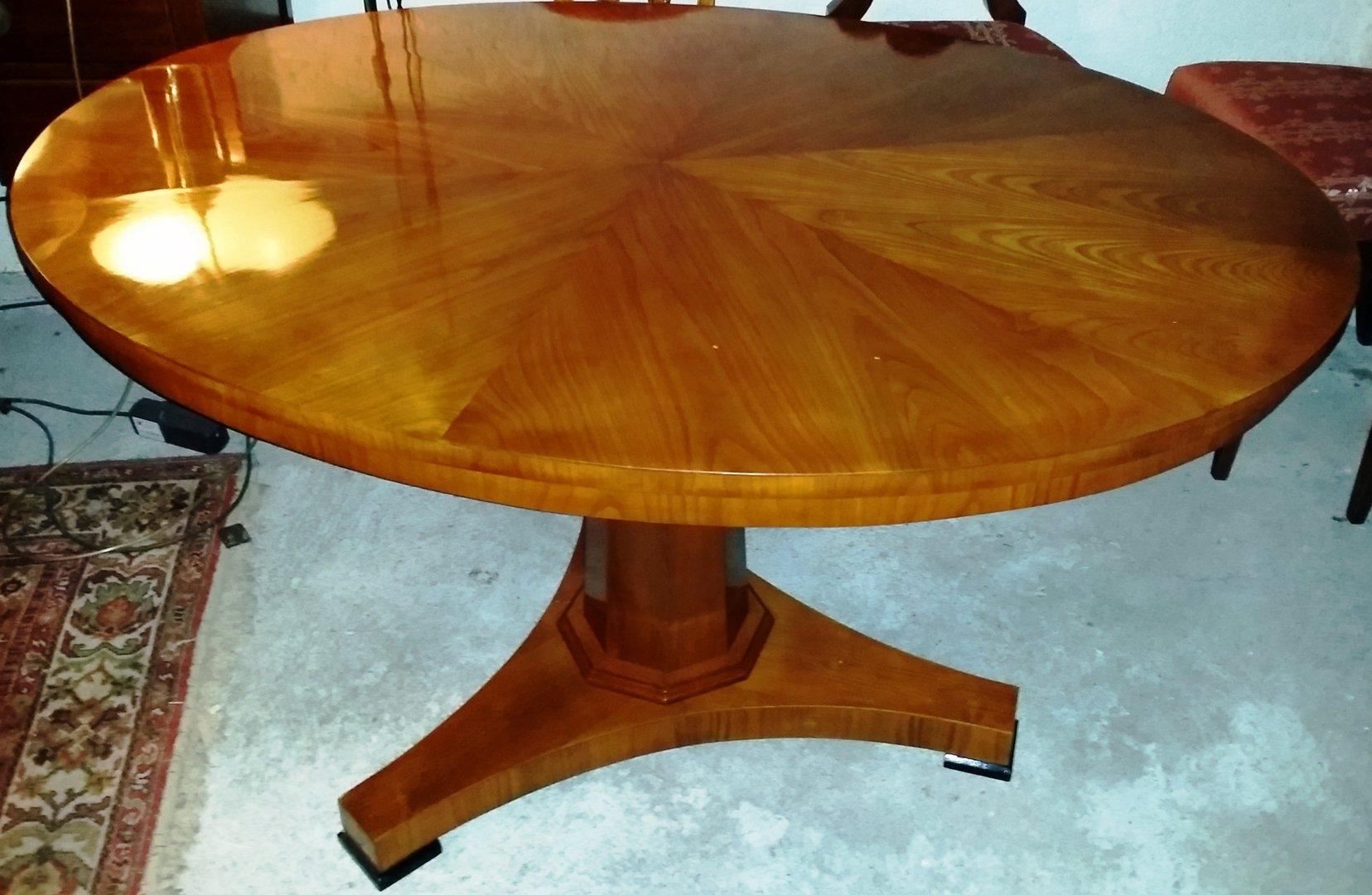Ovaler klappbarer kirschholz esstisch biedermeier um 1850 for Esstisch kirschholz