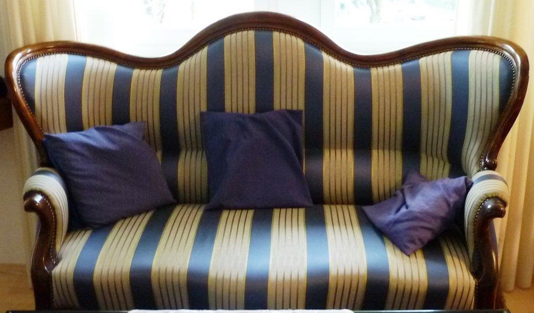 Antik möbel sofa  Nussbaum-Sofa Biedermeier Sofa Couch um 1840 - Antik Möbel ...