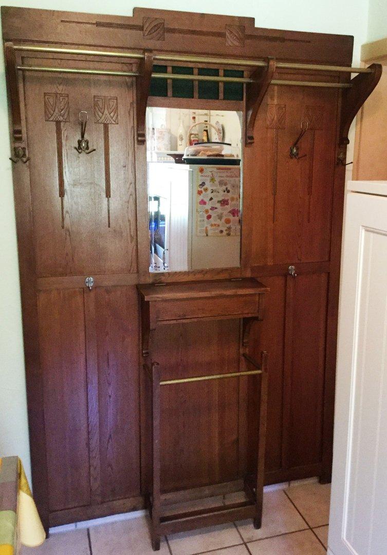 deutsche jugendstil garderobe um 1900 antik m bel antiquit ten alling bei m nchen zwischen. Black Bedroom Furniture Sets. Home Design Ideas