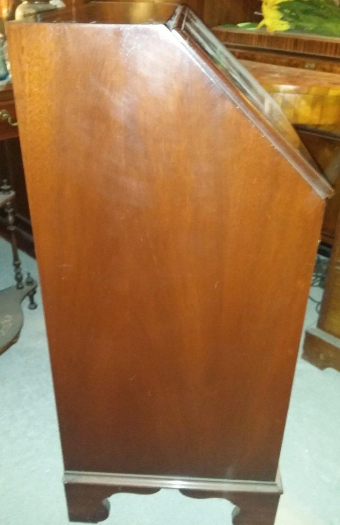 englischer intarsierter mahagoni sekret r schmaler sekret r 60 cm breit antik m bel. Black Bedroom Furniture Sets. Home Design Ideas