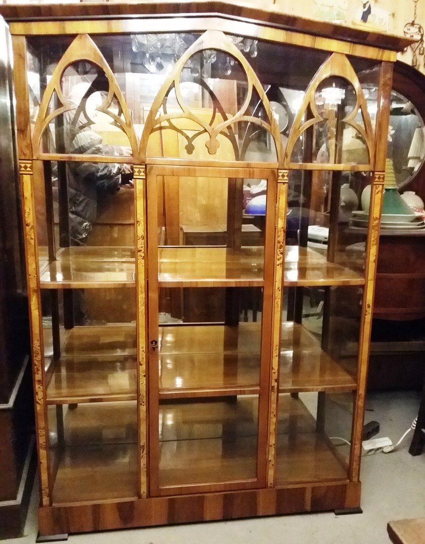 jugendstil vitrine im biedermeier stil um 1900 antik m bel antiquit ten alling bei m nchen. Black Bedroom Furniture Sets. Home Design Ideas