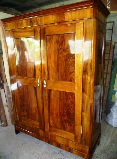 biedermeier nussbaum schrank um 1840 antik m bel antiquit ten alling bei m nchen zwischen. Black Bedroom Furniture Sets. Home Design Ideas
