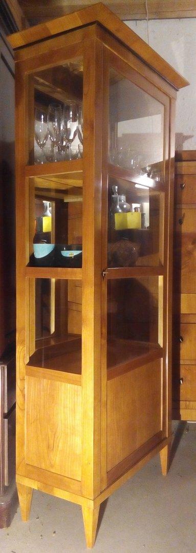 eit rige biedermeier stil biedermeier vitrine kirschfurniert antik m bel antiquit ten alling. Black Bedroom Furniture Sets. Home Design Ideas