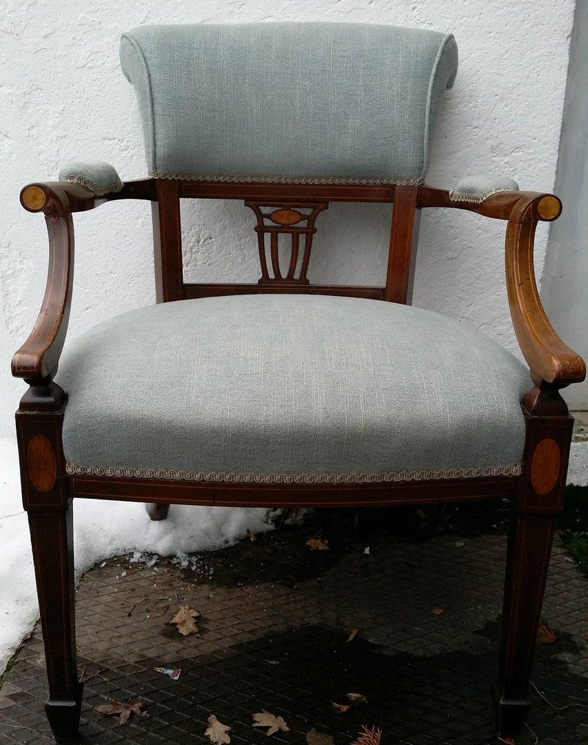 alter englischer sessel jugendstil sessel um 1900 10 mahagoni sessel antik m bel antiquit ten. Black Bedroom Furniture Sets. Home Design Ideas
