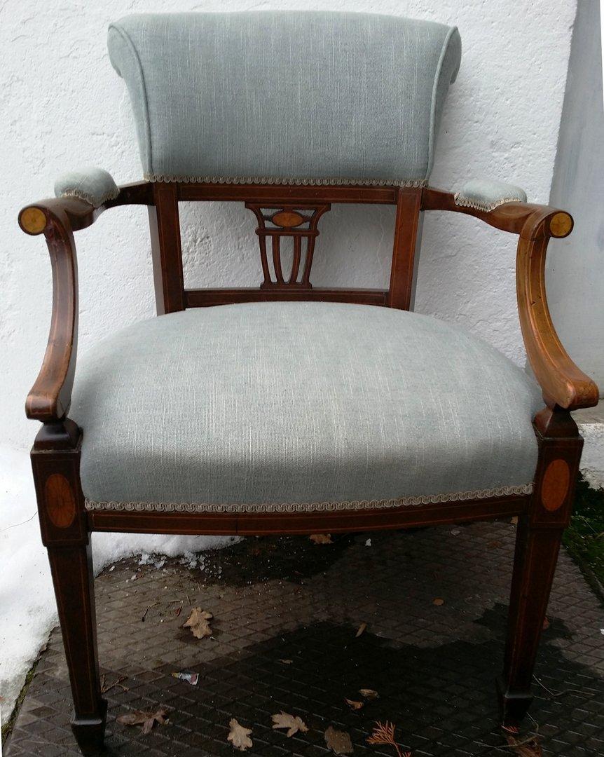alter englischer sessel jugendstil sessel um 1900 10. Black Bedroom Furniture Sets. Home Design Ideas