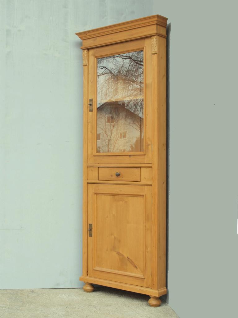 Alte antike eckvitrine aus massivem fichtenholz - Alte vitrinenschra nke ...