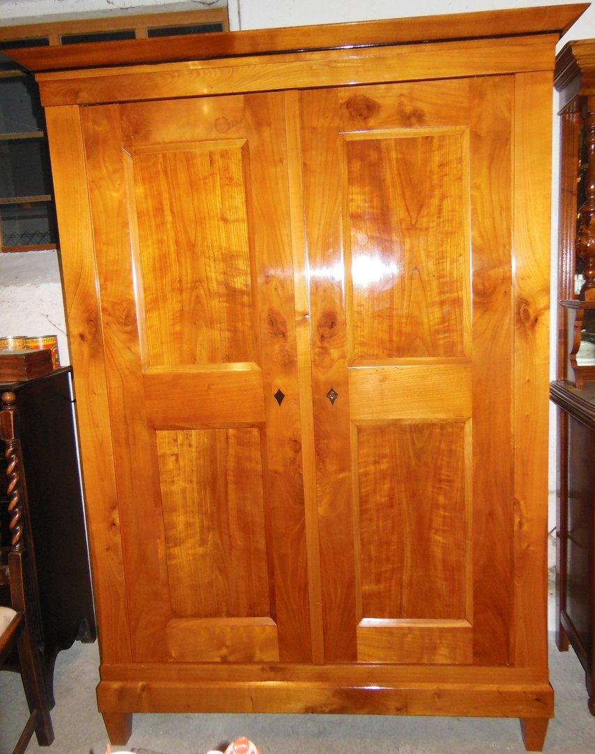 kirschholz biedermeier schrank um 1840 50 antik m bel antiquit ten alling bei m nchen zwischen. Black Bedroom Furniture Sets. Home Design Ideas