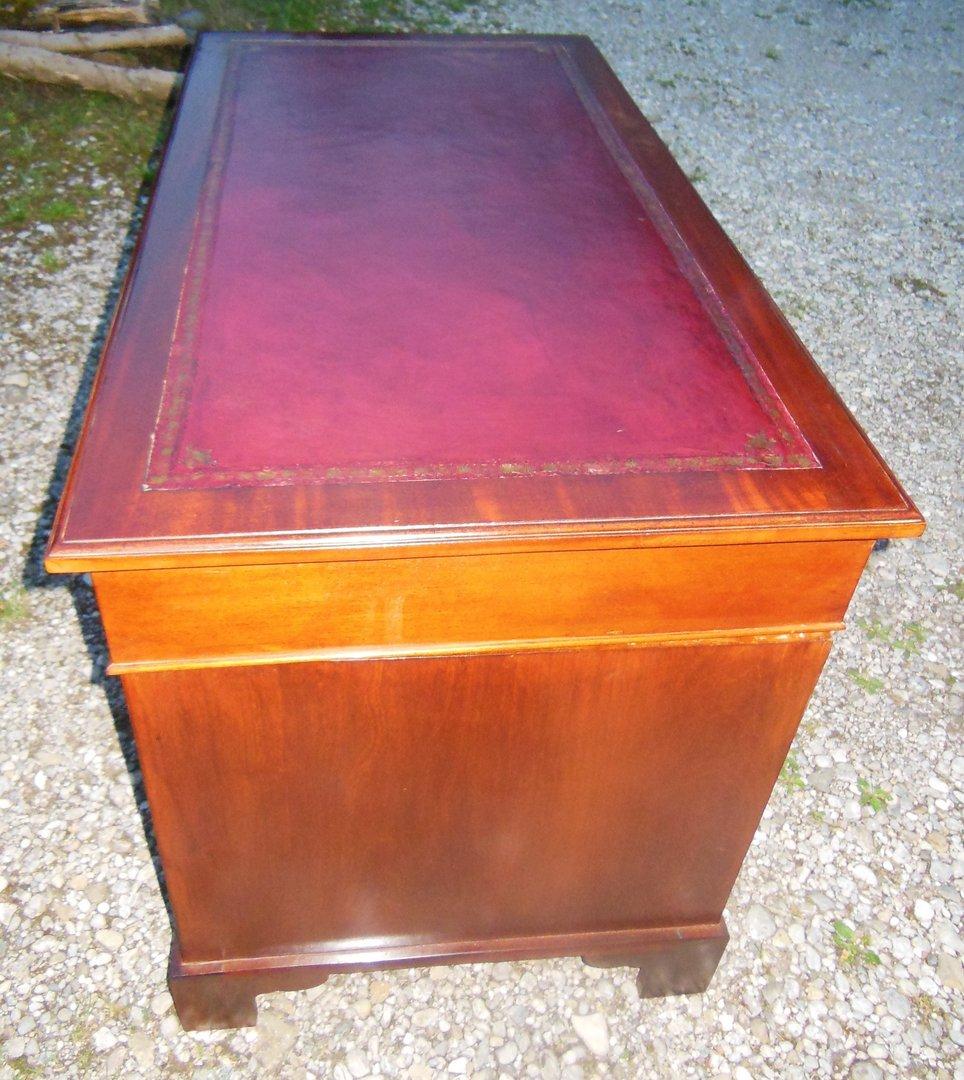 Mahagoni jugendstil schreibtisch um 1900 10 massivholz for Schreibtisch jugendstil