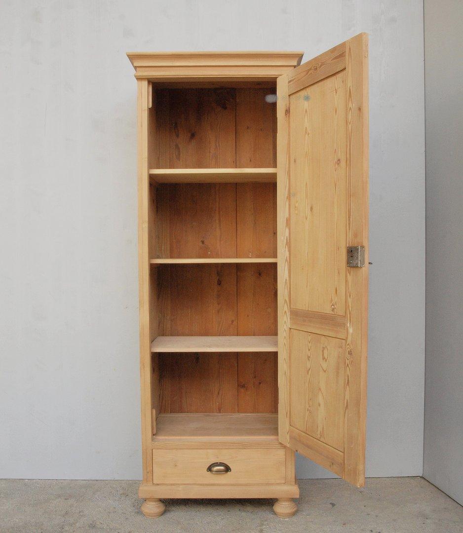 psc571t1s schmaler eint riger bauernschrank massivholz. Black Bedroom Furniture Sets. Home Design Ideas