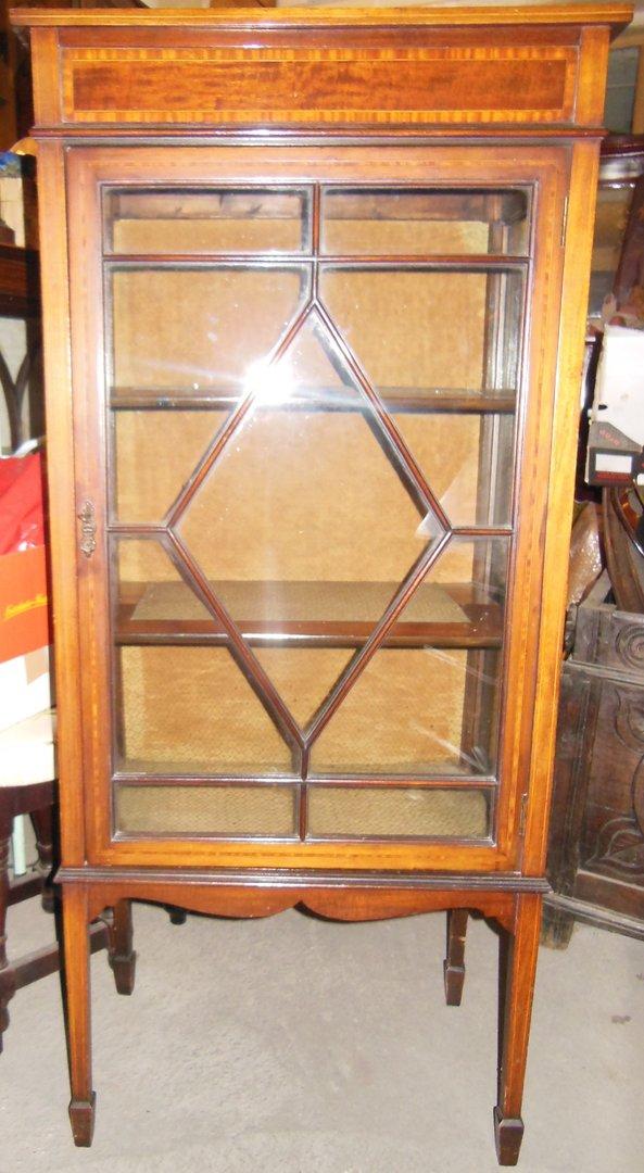 englische jugendstil mahagoni vitrine um 1900 10 antik m bel antiquit ten alling bei m nchen. Black Bedroom Furniture Sets. Home Design Ideas