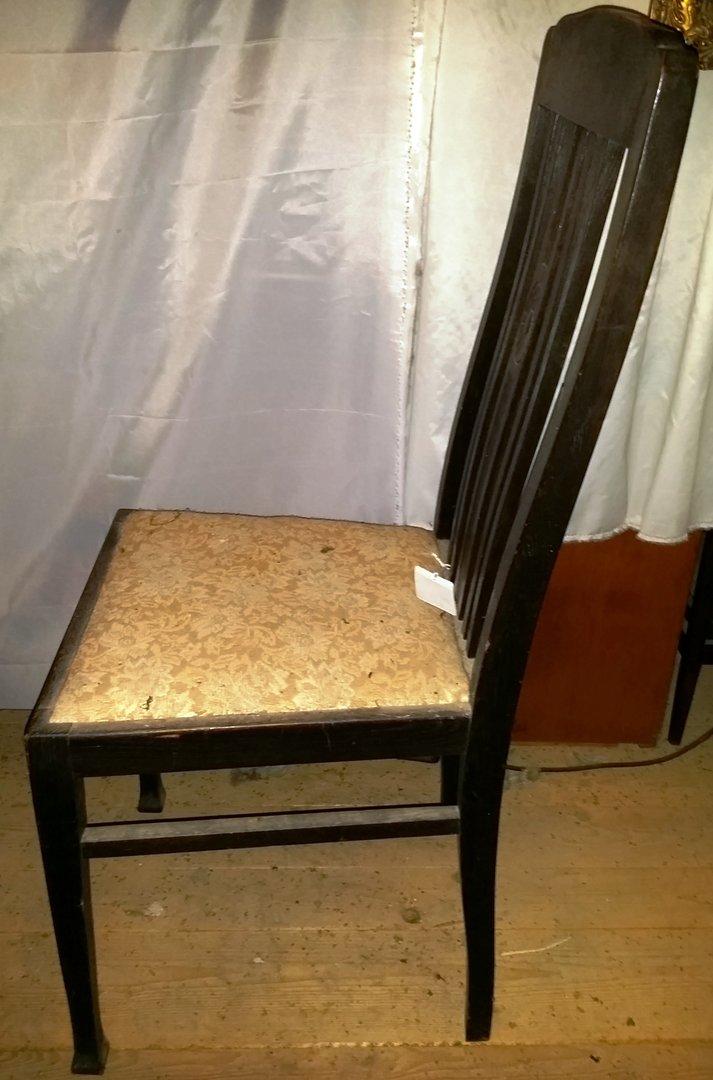 4 er satz deutsche jugendstil st hle eichenst hle um 1910 antik m bel antiquit ten alling bei. Black Bedroom Furniture Sets. Home Design Ideas
