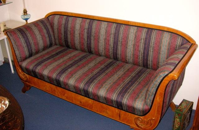 Antik möbel sofa  Biedermeier-Sofa restauriertes Kirschholz-Sofa-Biedermeier um 1830 ...