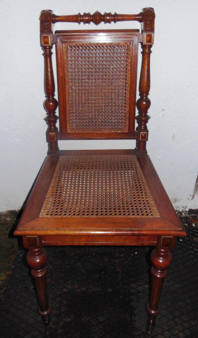 Grunderzeit Stuhl Um 1880 90 Mit Intaktem Geflecht Antike Mobel