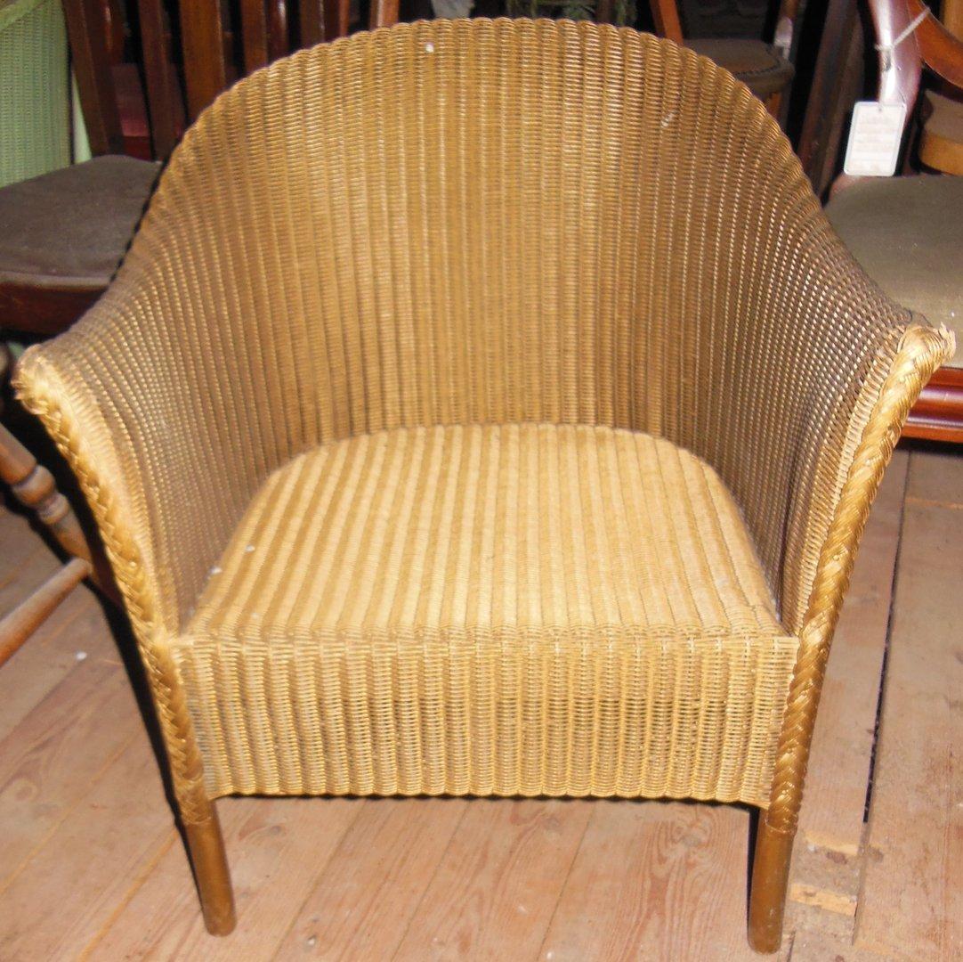 Lloyd Loom Sessel Goldfarben Antike Möbel Und Beschläge