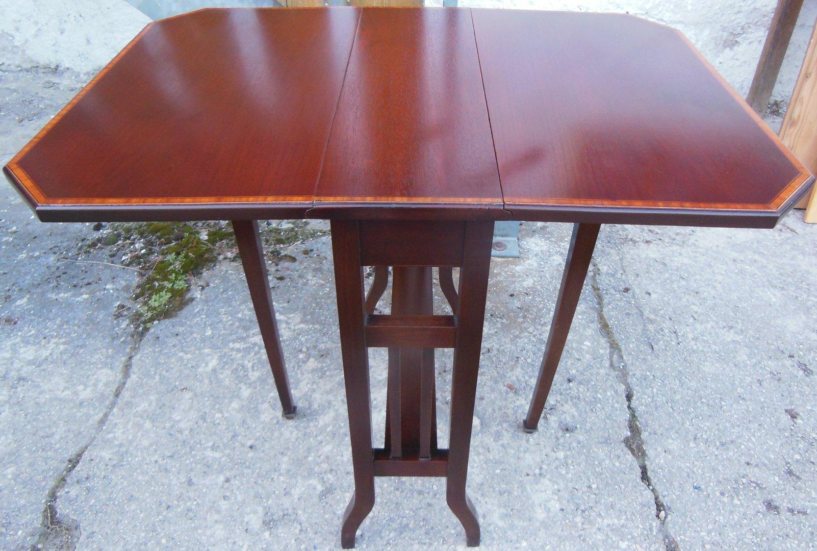 Klapptisch Beistelltisch.Beistelltisch Klapptisch Sutherland Jugendstil Tisch Mahagoni Massiv Beistelltisch Um 1910