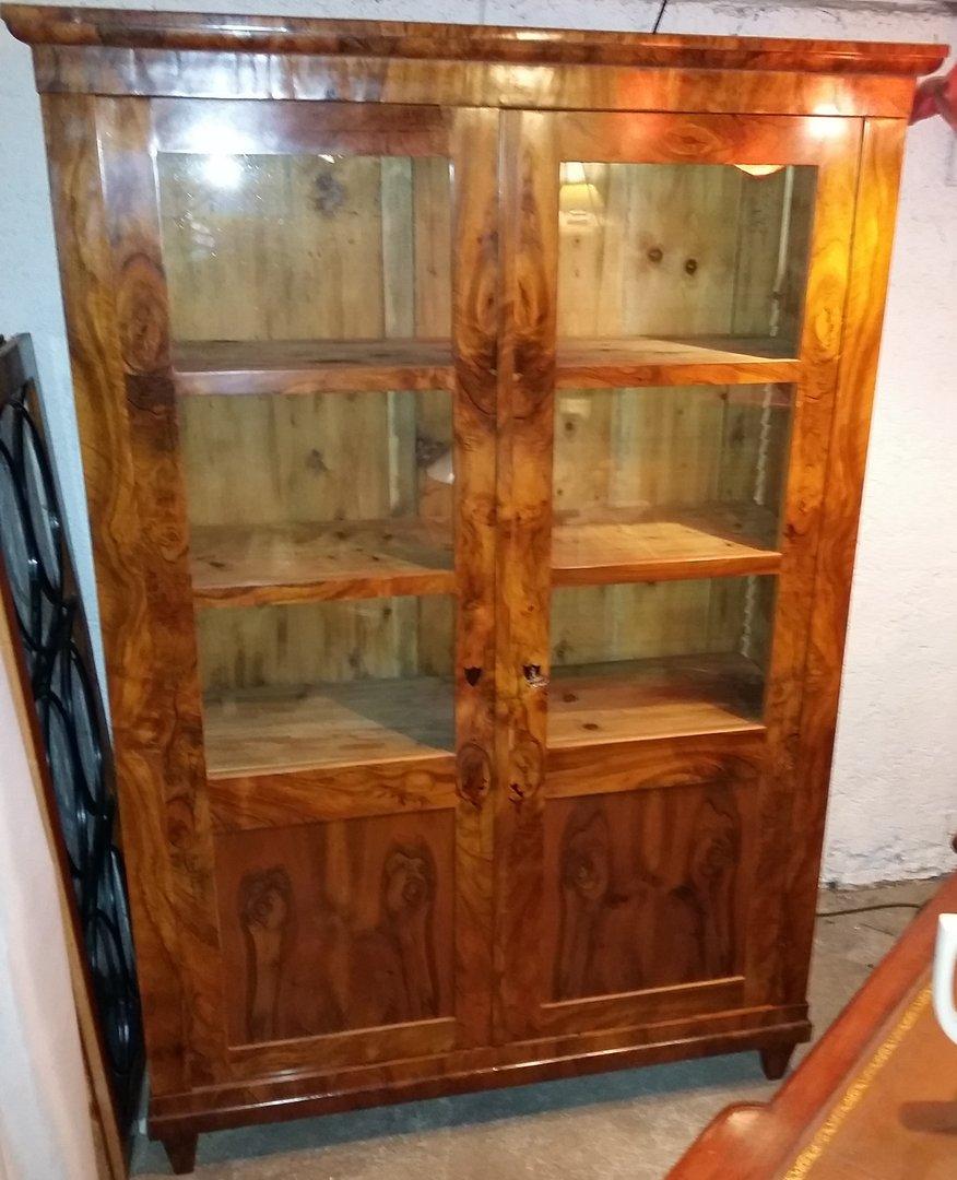 Antik Möbel München nussbaum bücherschrank um 1820 bestens restauriert antik möbel