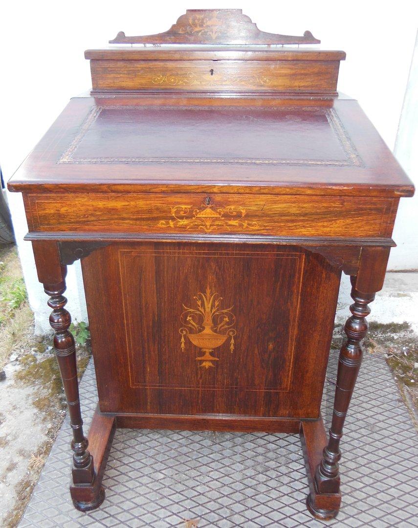 davenport englischer kleiner sekret r jugendstil sekret r um 1900 10 antik m bel antiquit ten. Black Bedroom Furniture Sets. Home Design Ideas