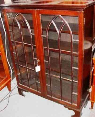 Georgian Mahagoni Vitrine Bücherschrank Regal um 1830 Massivholz