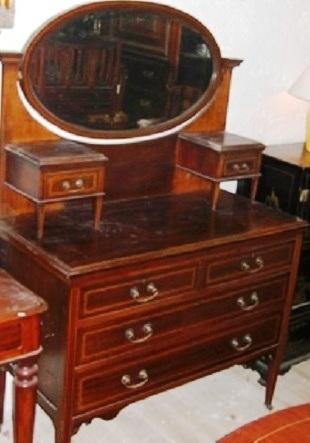 schminkkommode spiegelkommode edwardian um 1900 jugendstil antik m bel antiquit ten alling bei. Black Bedroom Furniture Sets. Home Design Ideas
