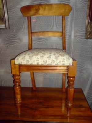 Vier Biedermeier Kirschbaum Stuhle 4 Er Satz Biedermeier Stuhle