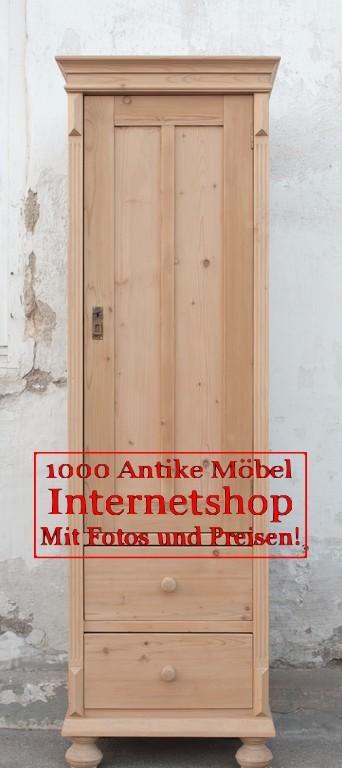 Antiker alter Bauernschrank schmaler Schrank - Antik Möbel ...