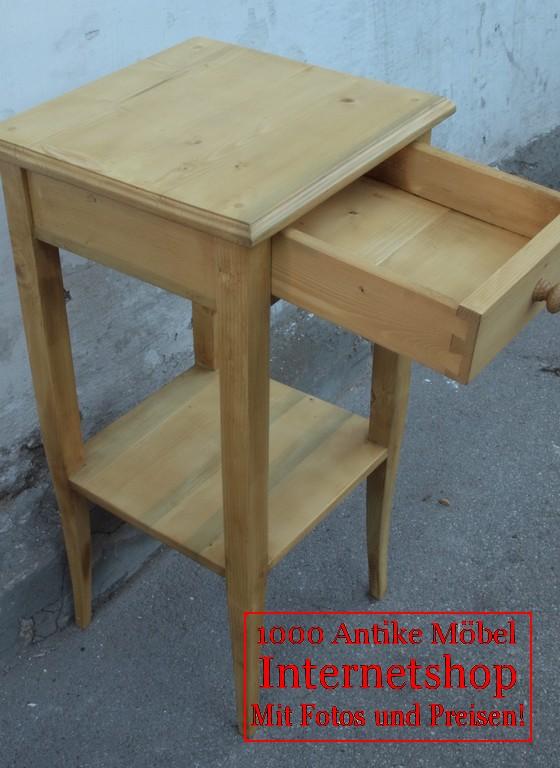 kleiner fichtentisch mit schublade