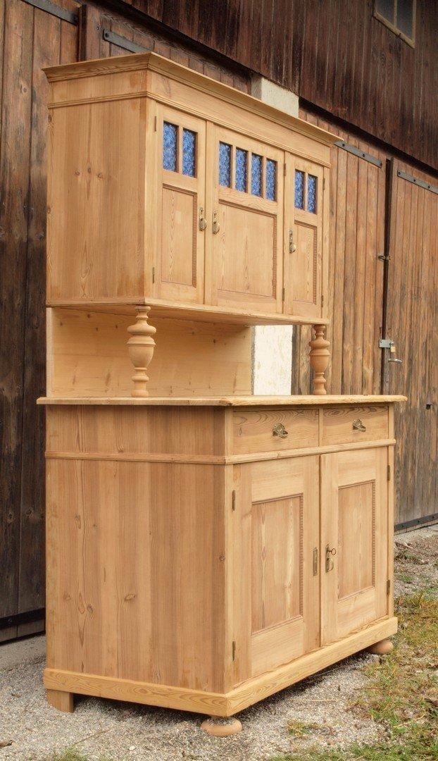 Altes Antikes Bauernbuffet Restaurierter Kuchenschrank Massivholz