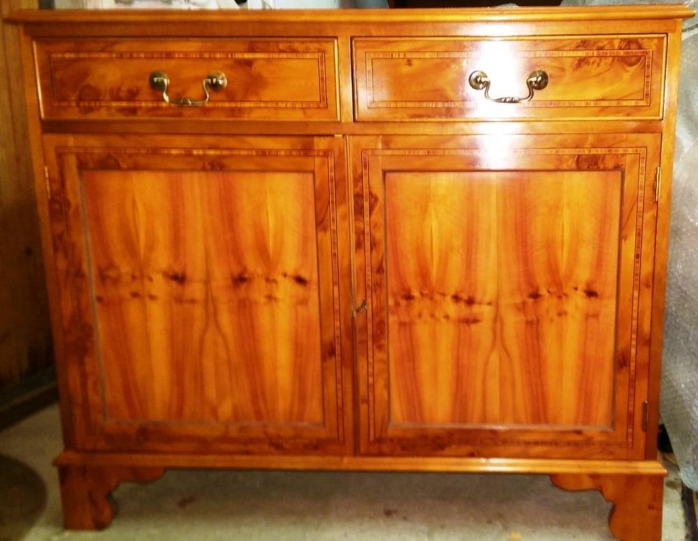 englisches sideboard anrichte in eibe nur 80 cm breit antik m bel antiquit ten alling bei. Black Bedroom Furniture Sets. Home Design Ideas