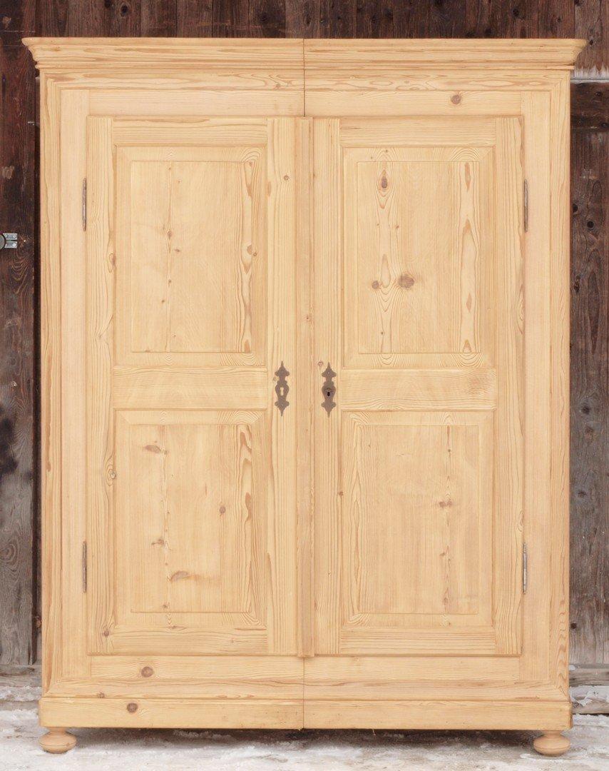 Antiker 2 Turiger Schafzimmerschrank Massivholzschrank