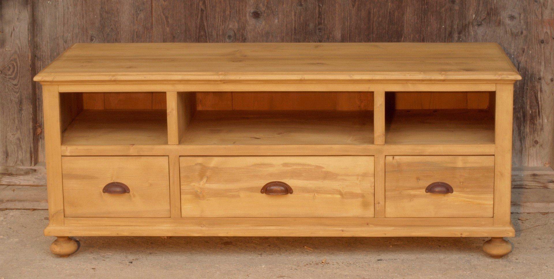 fernsehschrank massivholzmöbel fichte nachbau/neuanfertigung - antik